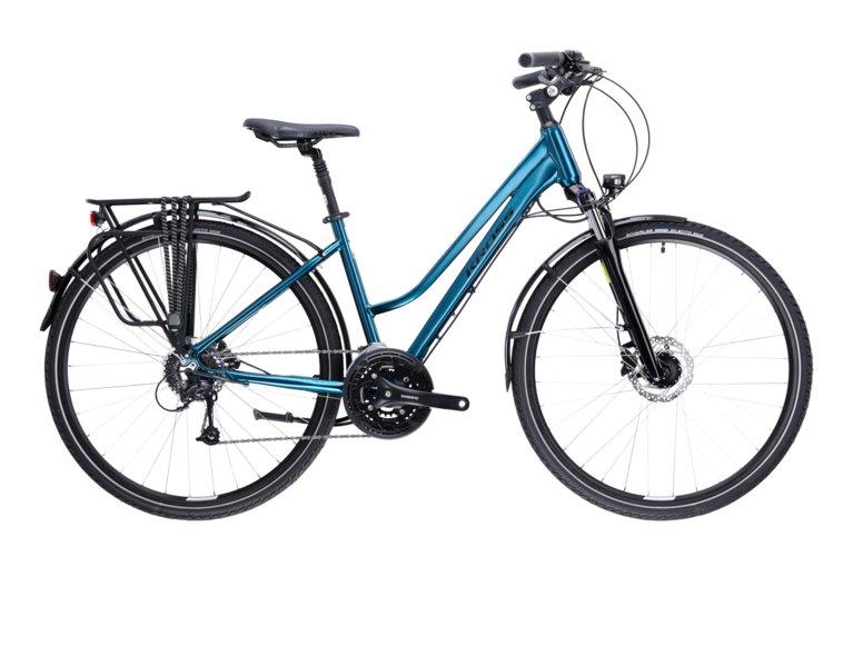 rower kross trans 8.0 to wygodny rower trekkingowy w kolorze niebieskim