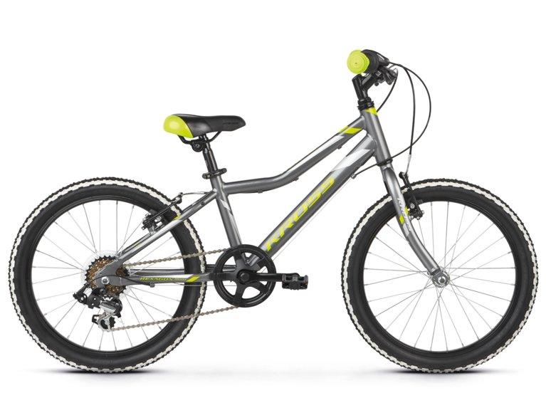 wygodny rower dla dziecka w kolorze srebrnym