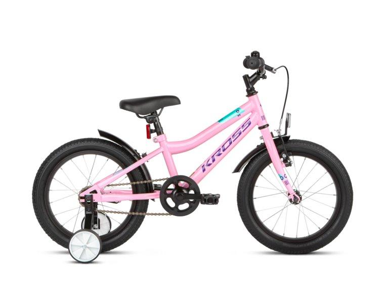 śliczny, różowy rowerek z bocznymi kółkami dla dziewczynki 4-6 lat