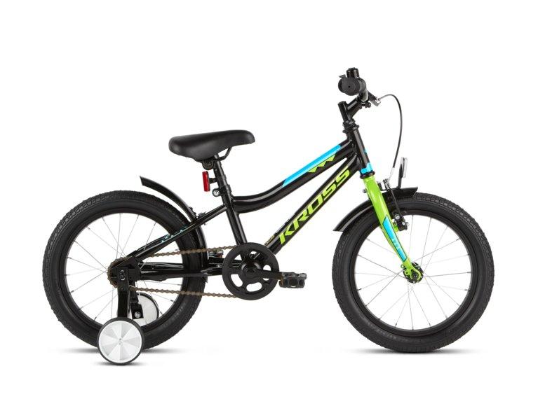 Rowerek dla dziecka 4-6 lat z bocznymi kółkami, które pozwolą na naukę jazdy na rowerze, Rower dziecięcy Kross RACER 3.0