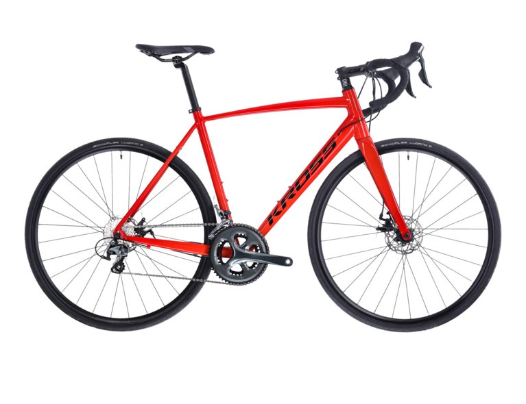 wygodny rower szosowy w kolorze czerwonym