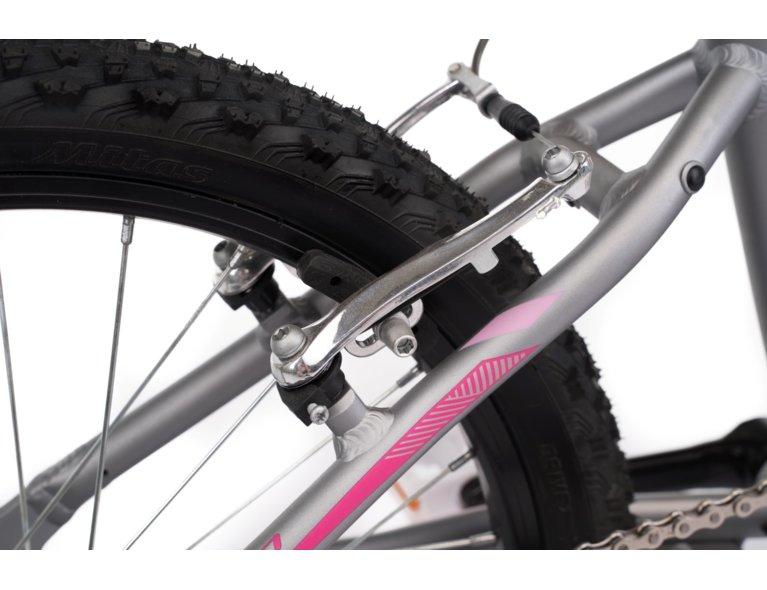 rower dla dziewczynki 8-12 lat, w dziewczęcym kolorze srebrno-różowym